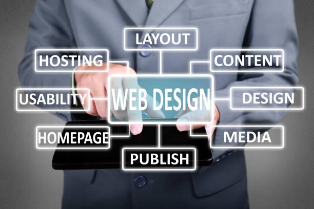 web-design-konzept - startseite stock-fotos und bilder