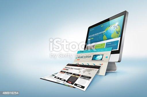 istock Web design concept 486916254