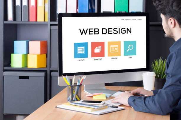 web design concept - web page stock photos and pictures