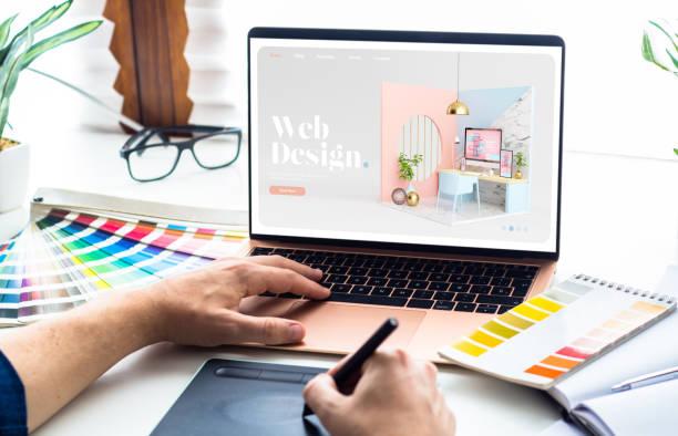 Web design desktop stock photo