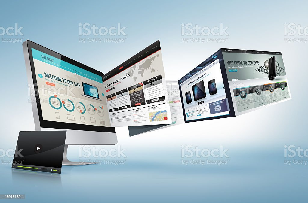 Web design development concept stock photo