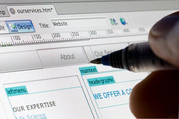 diseño web - website design fotografías e imágenes de stock