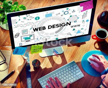 istock Web Design Technology Browsing Programming Concept 1060739400