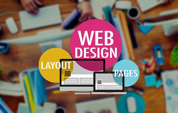 web-design-website www seitenlayout verbindung konzept - startseite stock-fotos und bilder