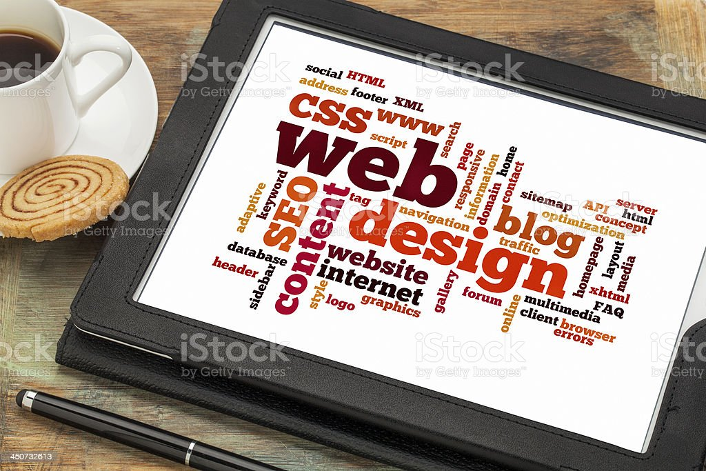 web design word or tag cloud royalty-free stock photo