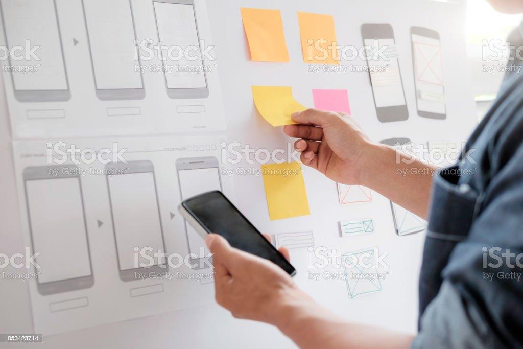 Web-Designer Bauantrag für Handy. – Foto