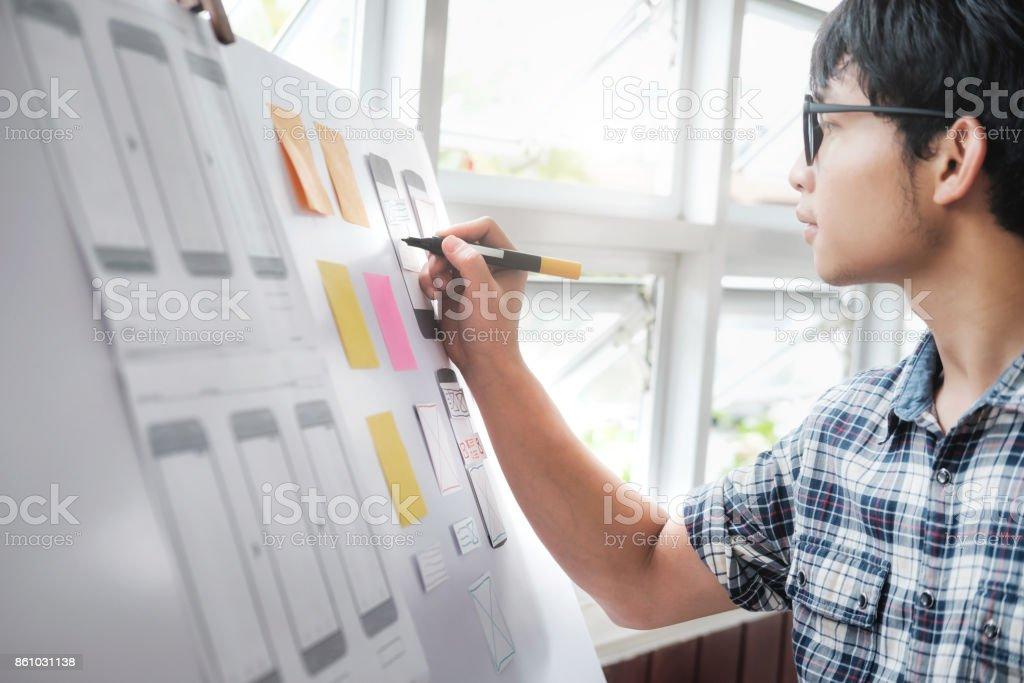 Web-Designer, UX UI-Designer Bauantrag für Handy – Foto