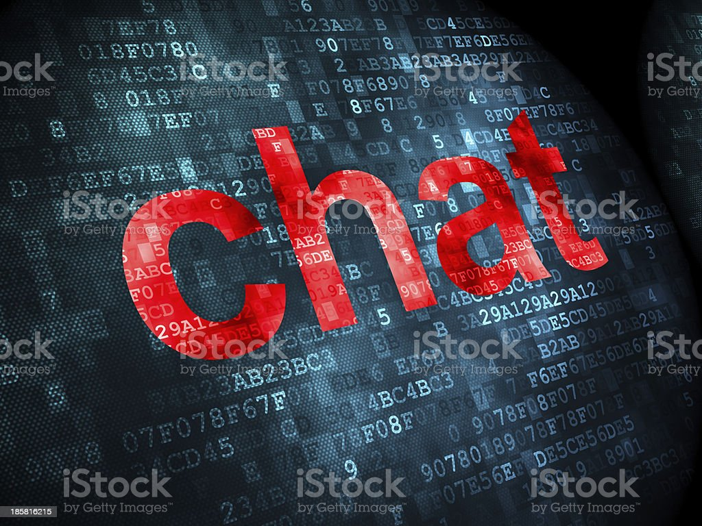 SEO web development concept: Chat on digital background royalty-free stock photo