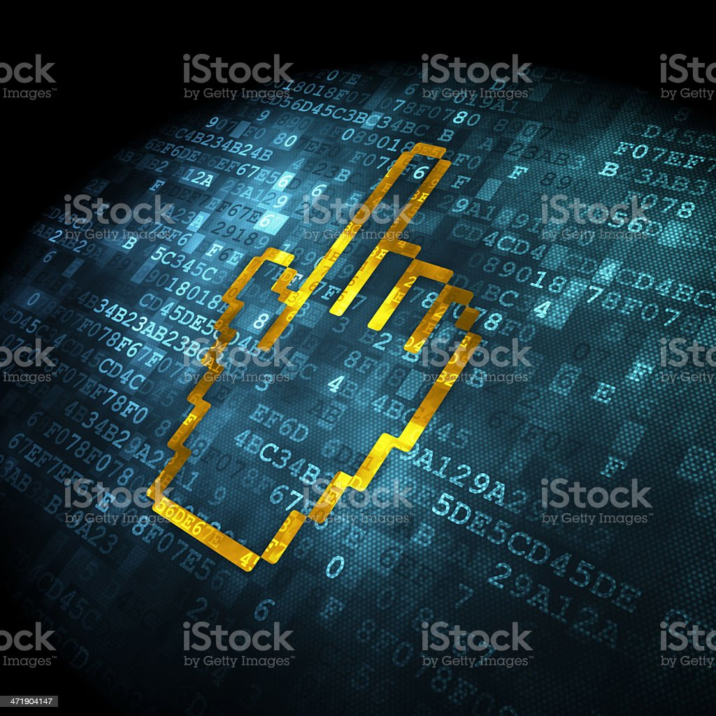 Web development concept: Mouse Cursor on digital background royalty-free stock photo