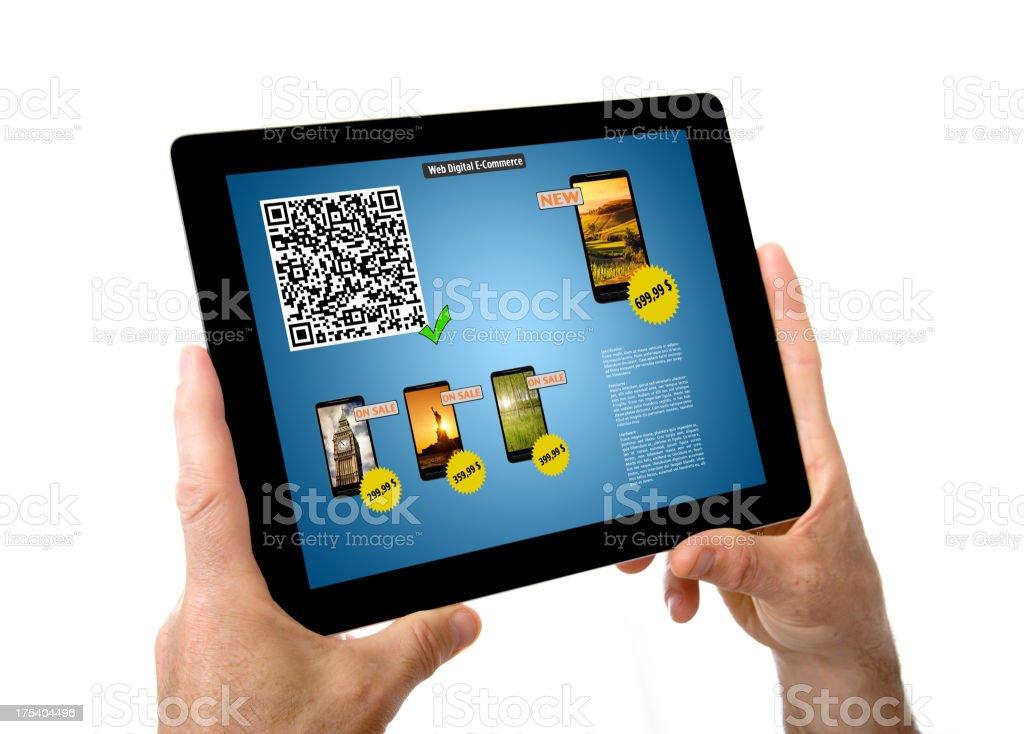 Web ecommerce on digital tablet royalty-free stock photo