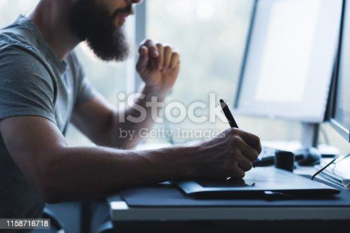 istock web graphic design creative illustrator tablet pen 1158716718