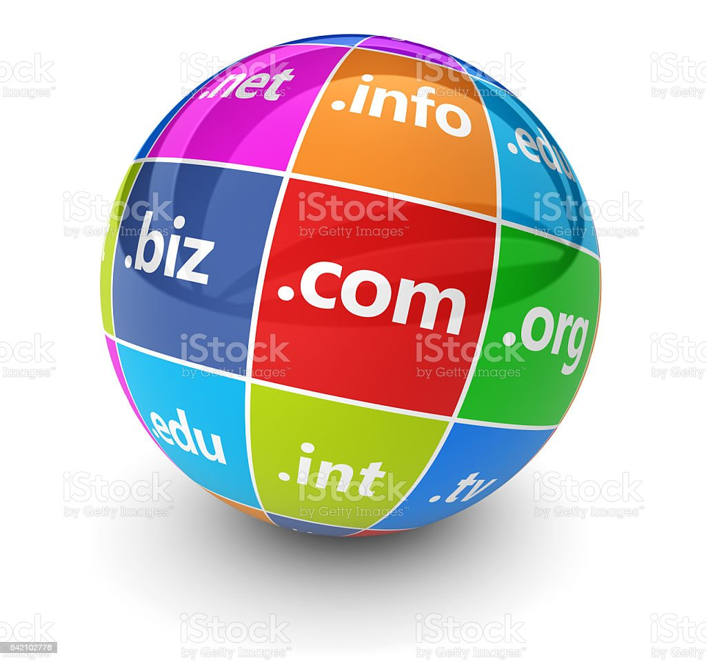 Web Hosting Domain Names Concept stock photo