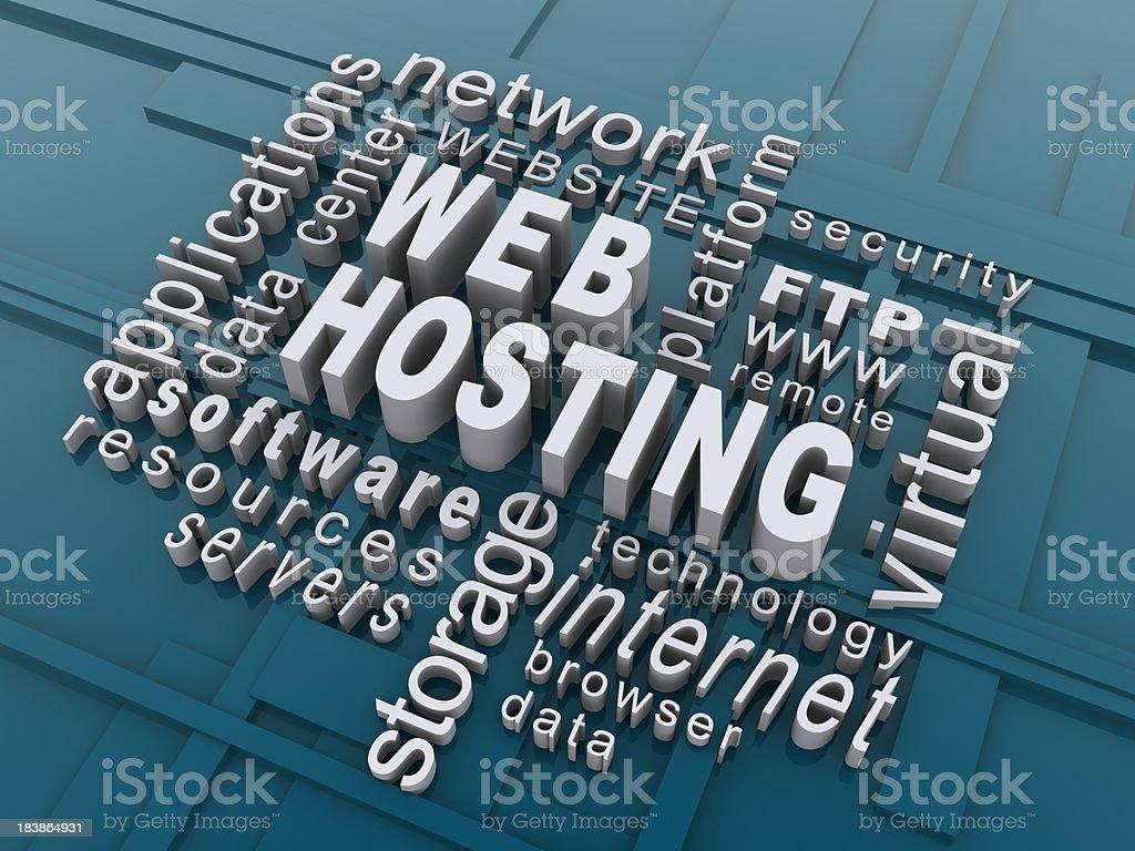 web hosting royalty-free stock photo