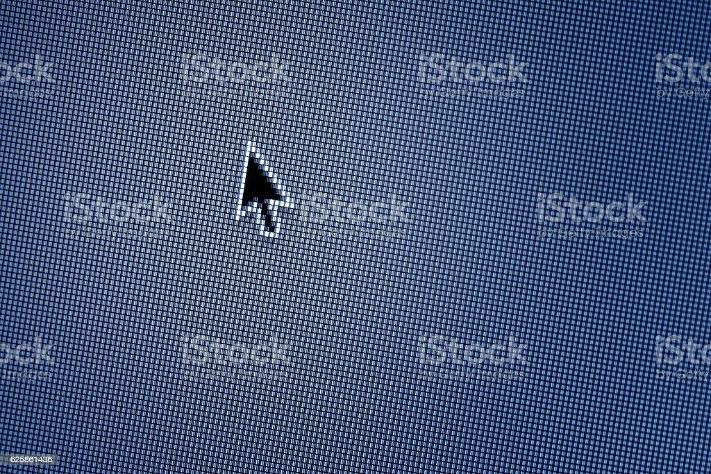 Web Icon on LED screen stock photo