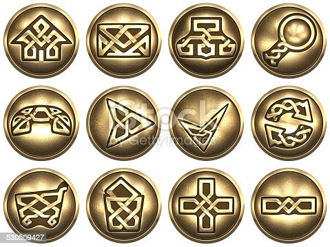 istock Web Icons. Celtic style 530509427