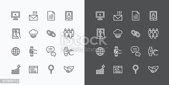 istock Web Icons Line Set. Vector Design. 912845714