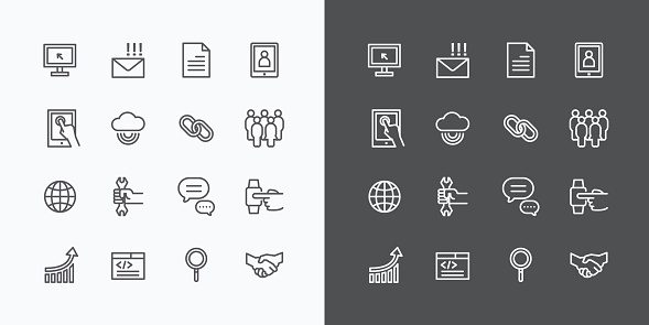 Web Icons Line Set. Vector Design. can be use in web and mobile UI.