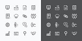 Web Icons Line Set. Vector Design.