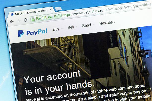 pagina web di paypal, il denaro sistema di trasferimento - paypal foto e immagini stock