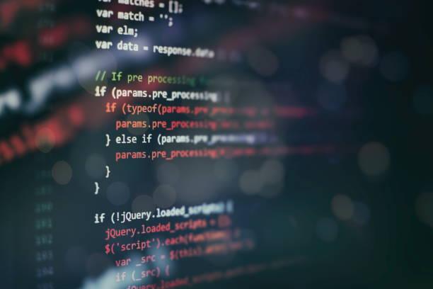 Dizüstü bilgisayarda Web programlama fonksiyonları. It iş. Python kod bilgisayar ekranı. Mobil uygulama tasarım kavramı. stok fotoğrafı