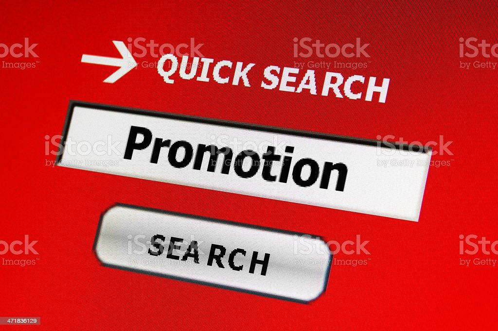 Web promotion stock photo
