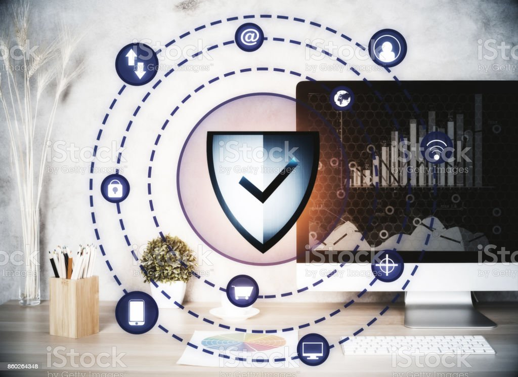 Web safety concept stock photo
