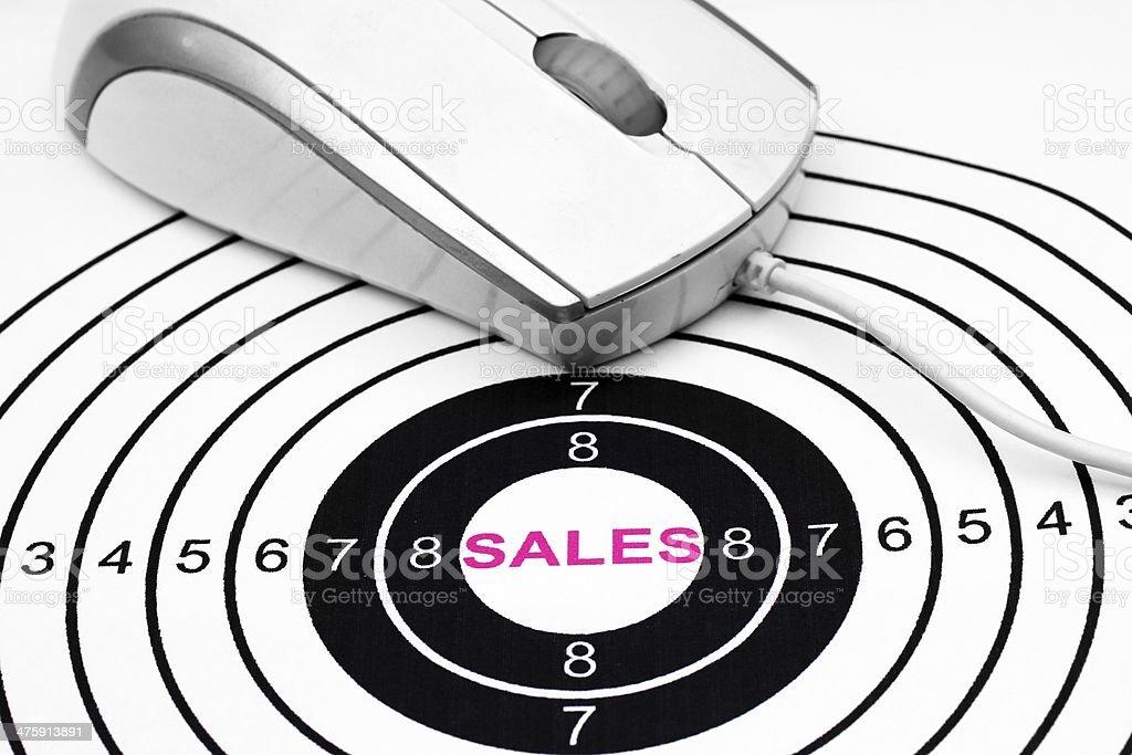 Web sales target stock photo