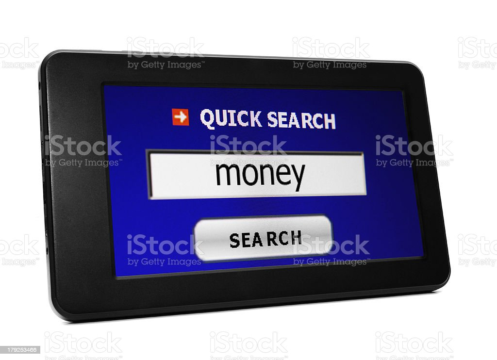Web search for money stock photo
