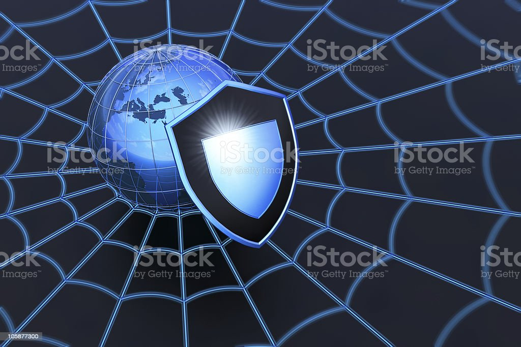 Web security royalty-free stock photo