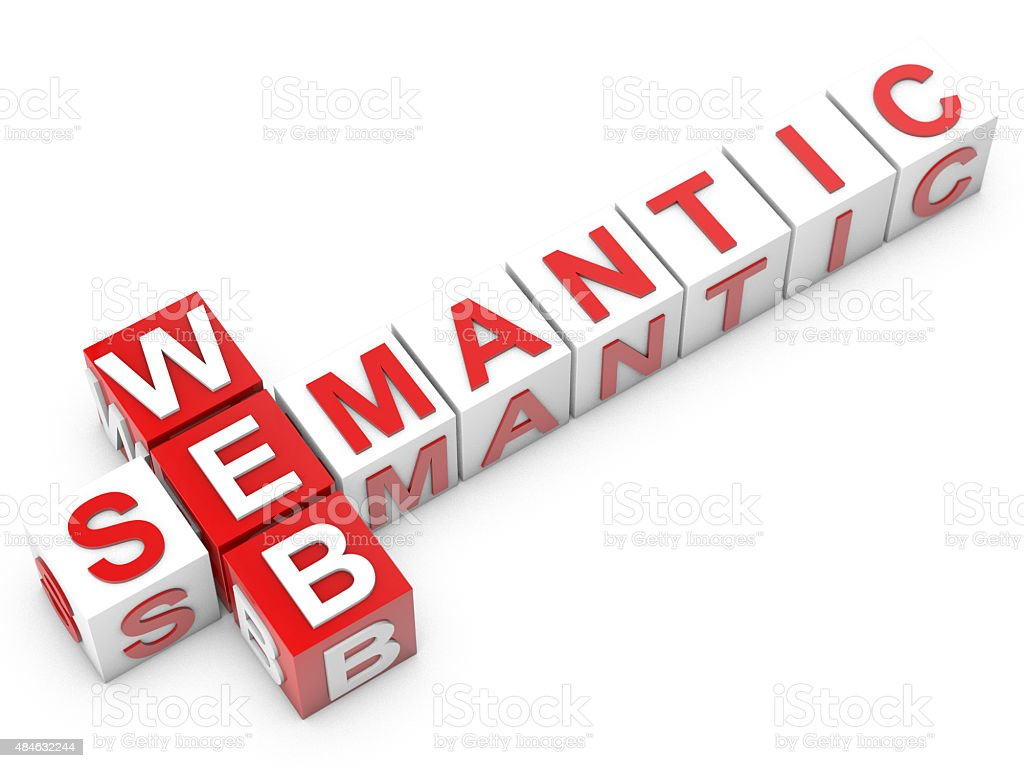 web semantic stock photo