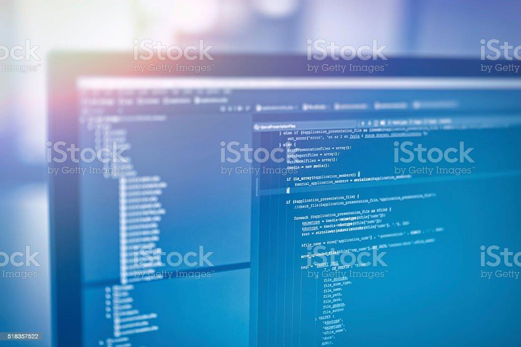 Website-codes auf Computerbildschirm - Lizenzfrei Allgemein Stock-Foto