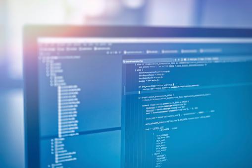Websitecodes Auf Computerbildschirm Stockfoto und mehr Bilder von Allgemein