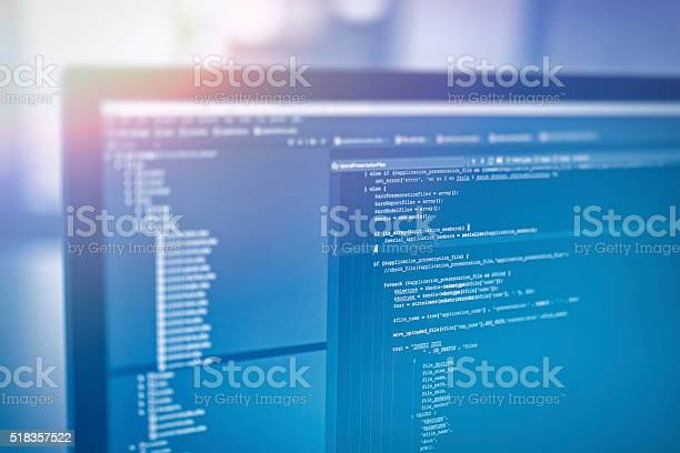 Web Site Codes On Computer Monitor Stock Photo - Download Image Now
