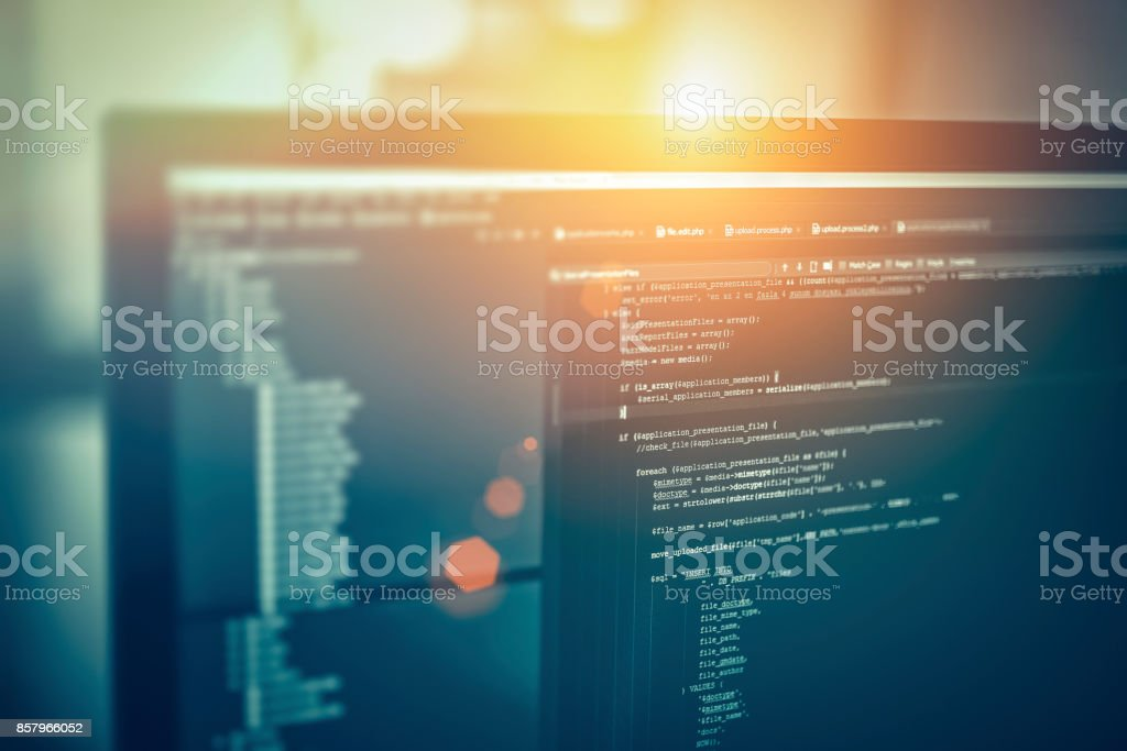 Website-codes auf Computerbildschirm – Foto