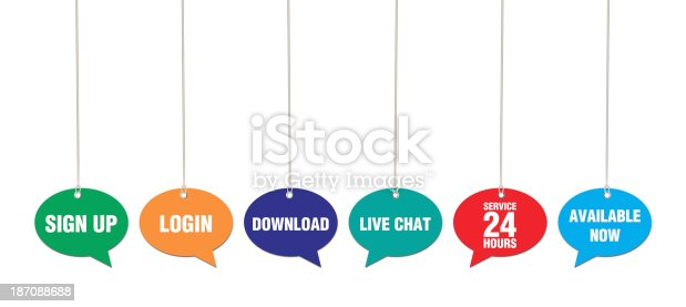 istock Web Site Words on Speech Bubbles 187088688