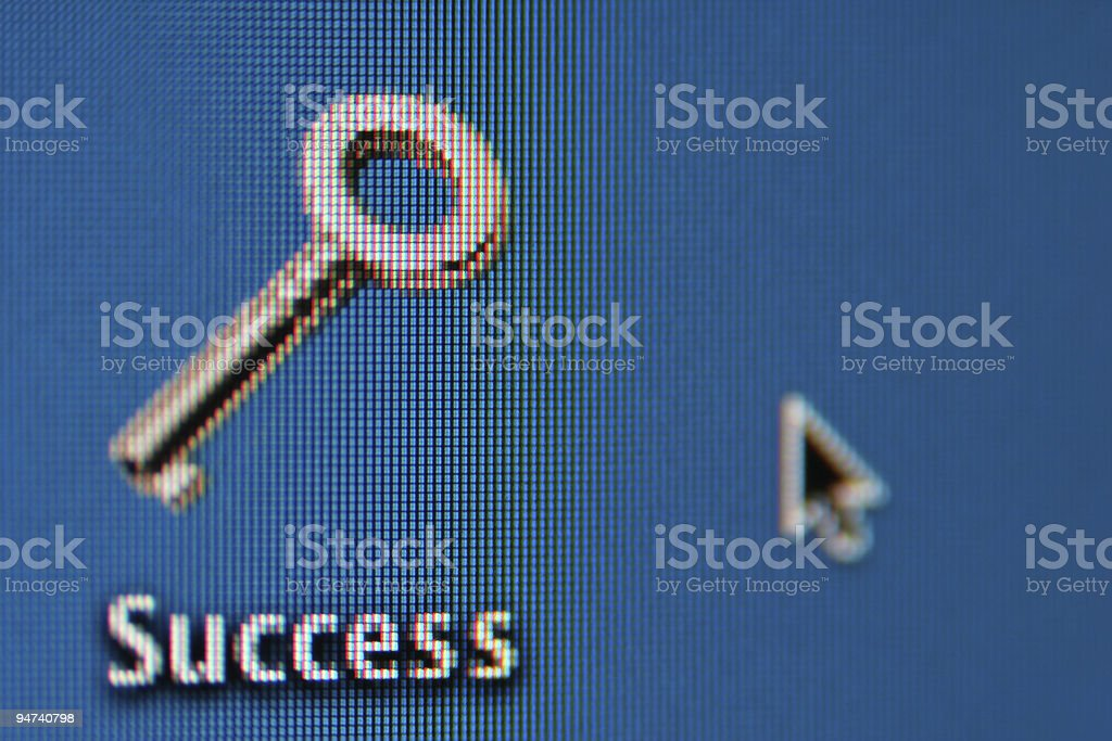 Web success key stock photo