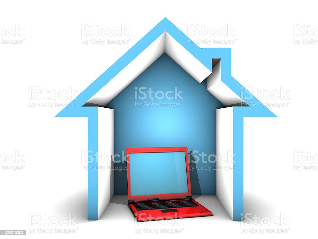 Web Technology in Our Homes stock photo