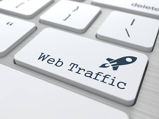 Tastatur mit Schaltfläche Web-Verkehr. – Foto