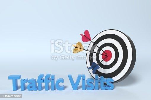 istock Web Traffic Visits 1196255382