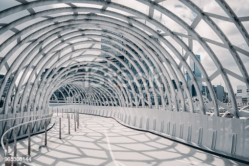 Webb Bridge Melbourne Australia With Shadow Cast On The Ground Stock Photo & More Pictures of 2018