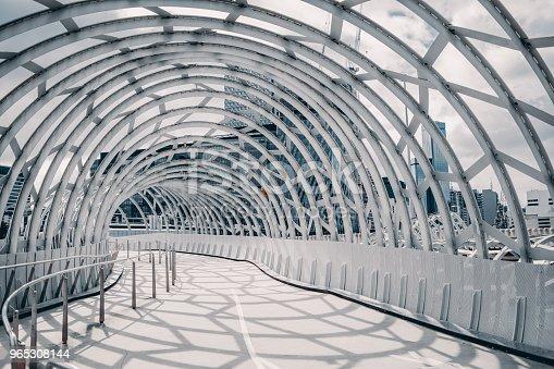Webb Bridge Melbourne Australia With Shadow Cast On The Ground - zdjęcia stockowe i więcej obrazów 2018