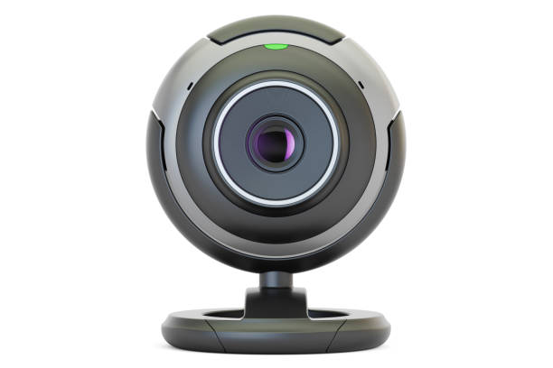 webcam, 3d rendering isolated on white background - webcam stock pictures, royalty-free photos & images