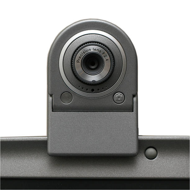 USB Webcam (isolated on white, clipping path) stock photo