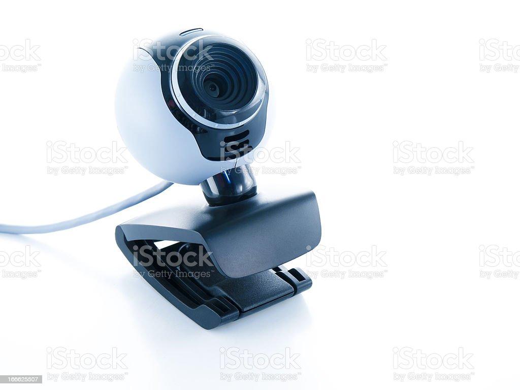 webcamera isolated on a white background royalty-free stock photo