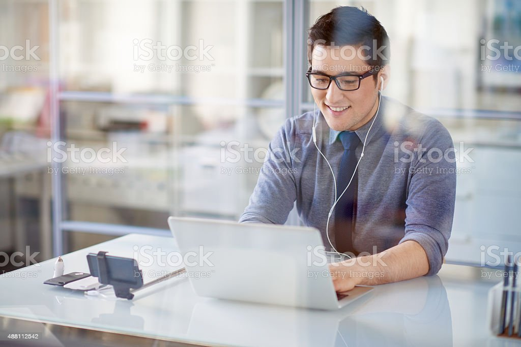 Web-conferencing stock photo
