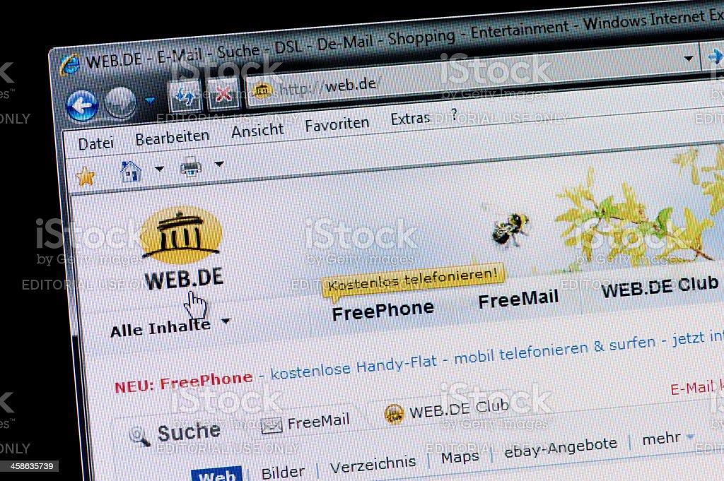 web.de - Macro shot of real monitor screen stock photo