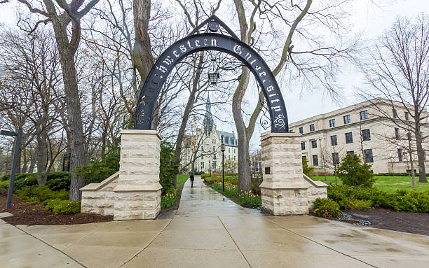 Weber Arch and University Hall at Northwestern
