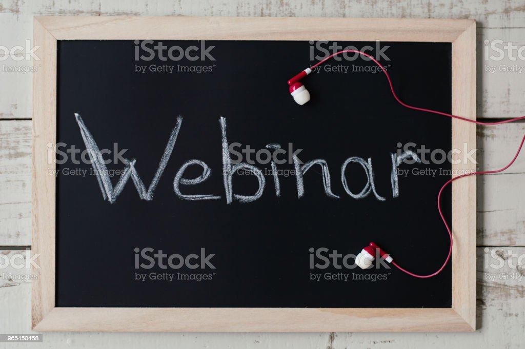 Webinar banner. Webinar concept. Digital marketing. E-business opportunities zbiór zdjęć royalty-free