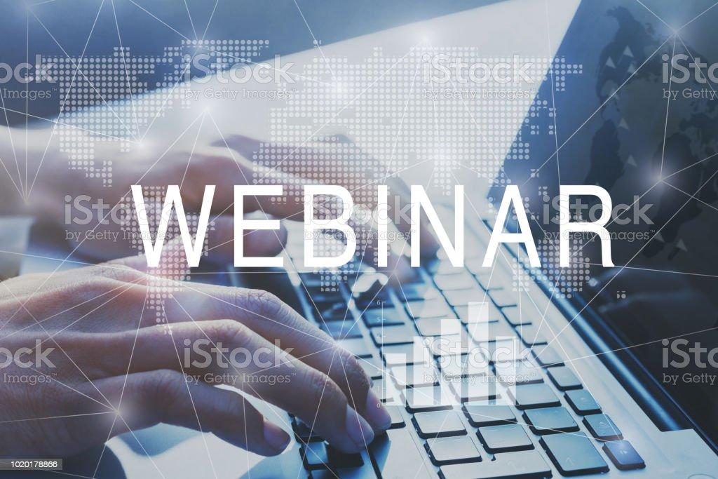 webinar concept, education online stock photo
