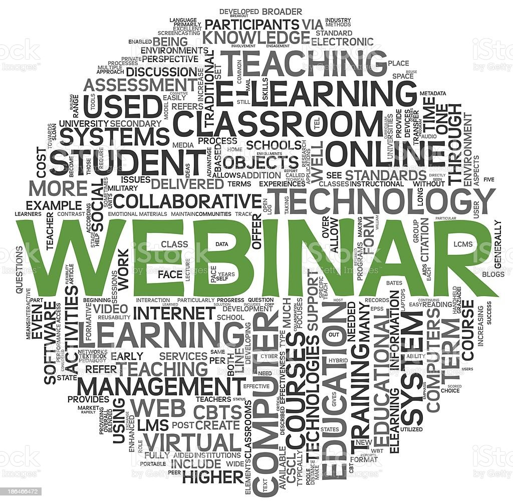 Webinar concept in word tag cloud royalty-free stock photo